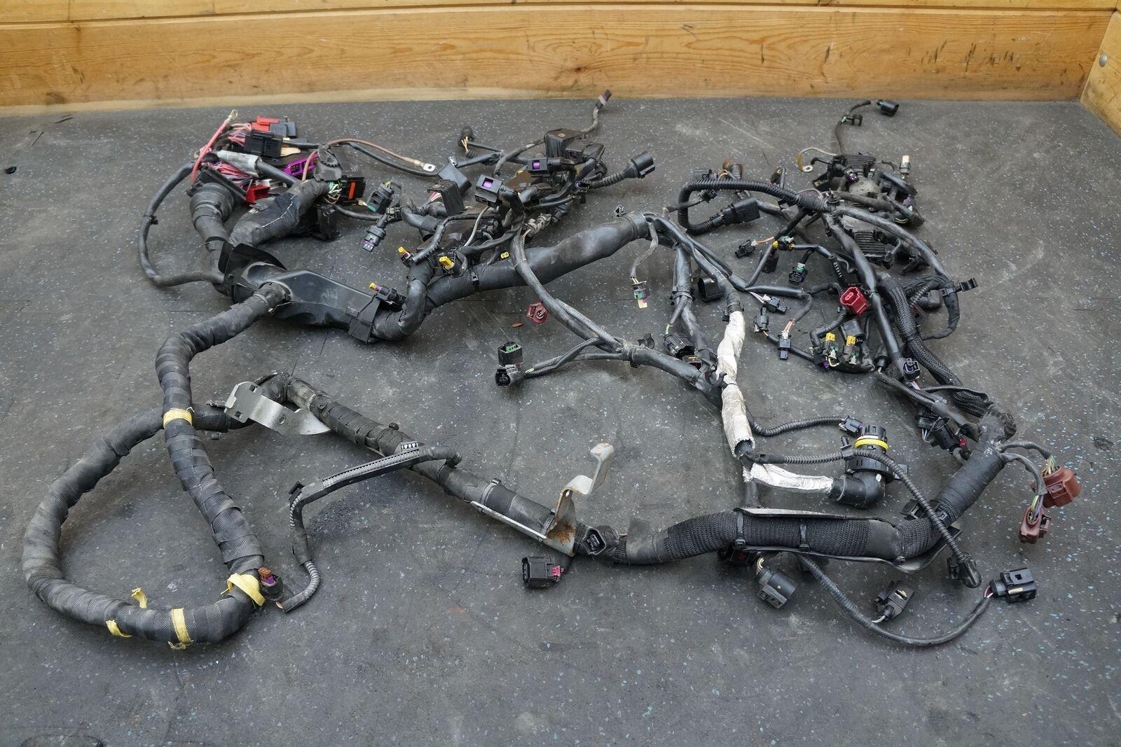 4.0L V8 Twin Turbo TSFI Engine Wiring Harness 4G1971713L OEM Audi RS7 Oem Engine Wiring Harness on