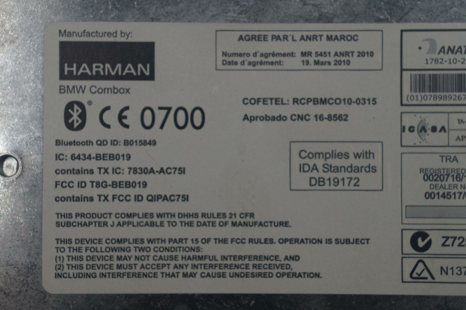 Communication Telematics Combox Control Module 84109257163 BMW X1 E84  2012-15