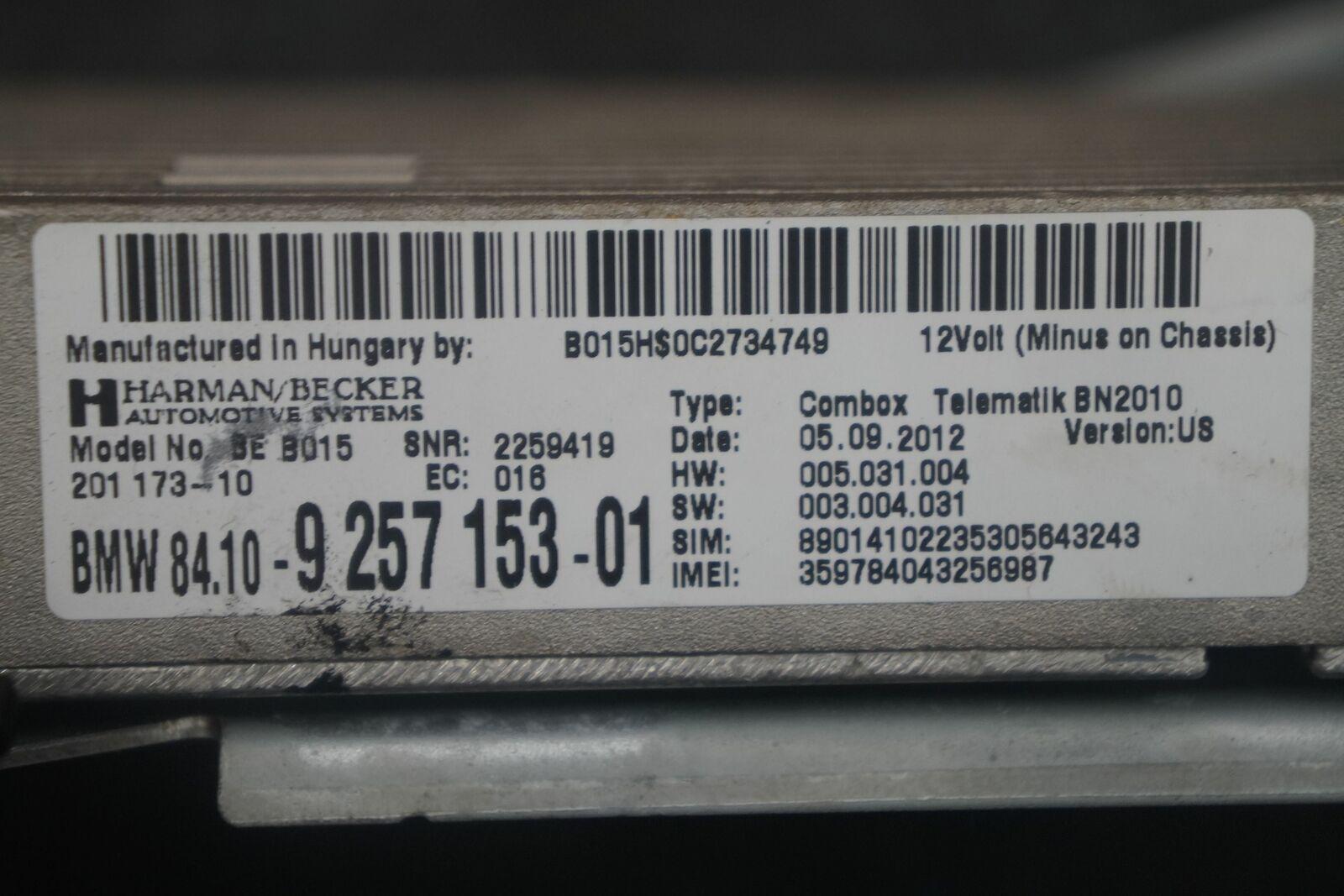 Telematics Combox Control Module 84109257153 BMW 650i 640 F12 2013 F30 F10  F01