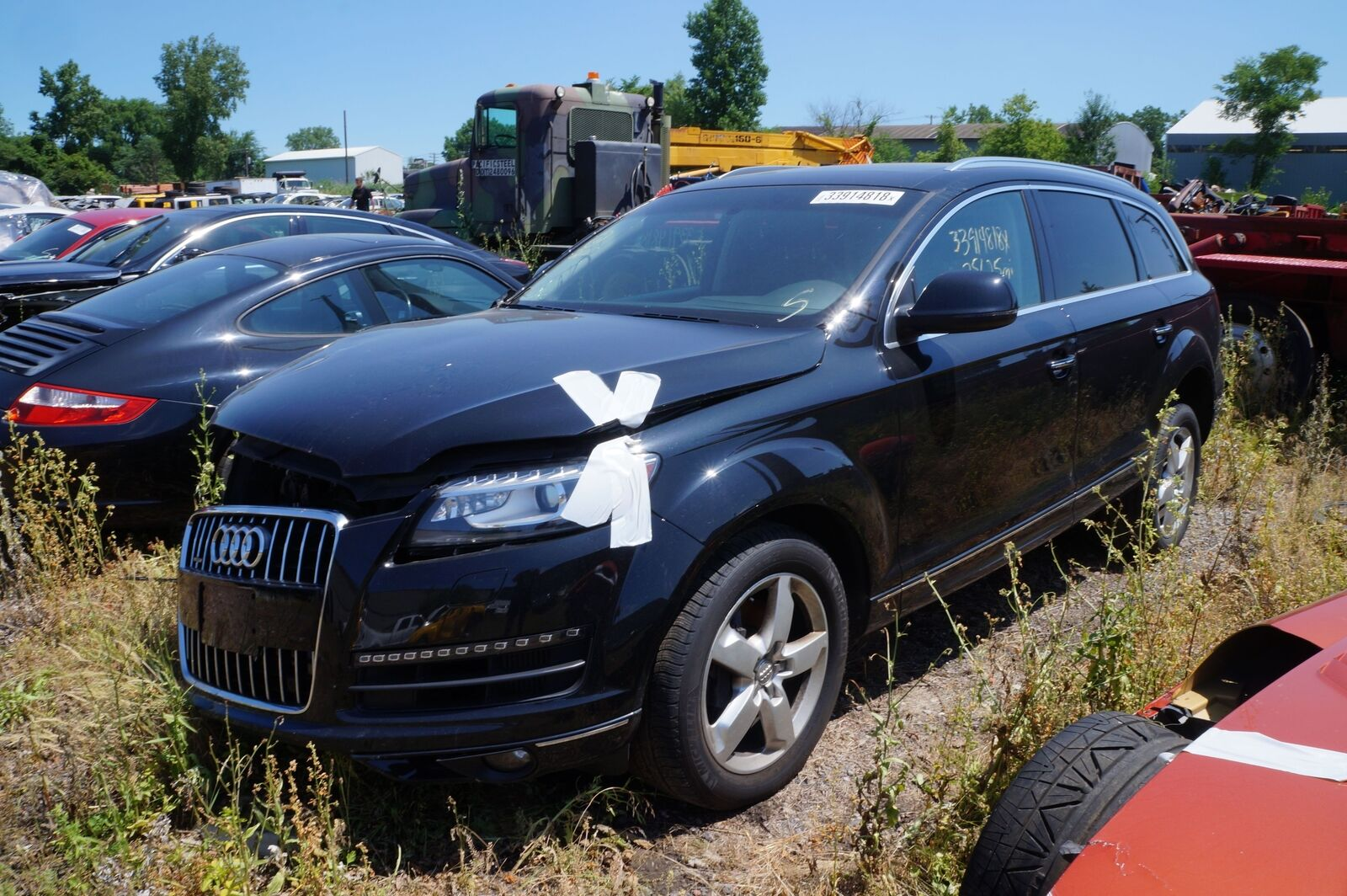 Steering Wheel Lane Depart Heated Black 4L0419091AE OEM Audi Q7 2012-15