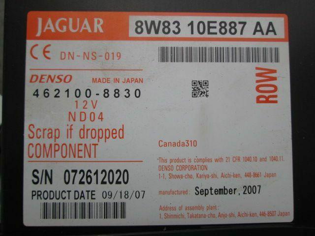 CD DVD Navigation GPS Disc Changer Player Unit 8W83-10E887AA Jaguar XK  2007-09