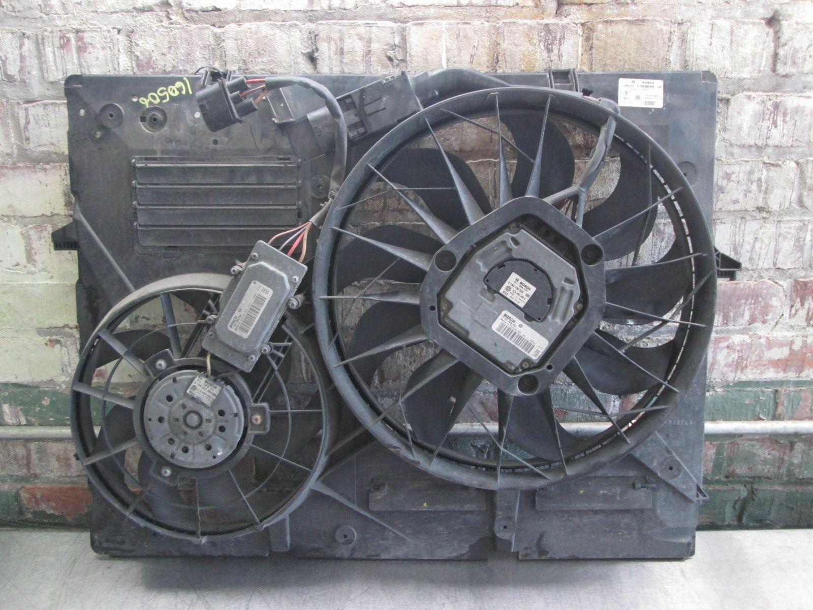 Electric Engine Cooling Fan & Shroud 4 2L V8 7L0121207E OEM VW Touareg  2004-10