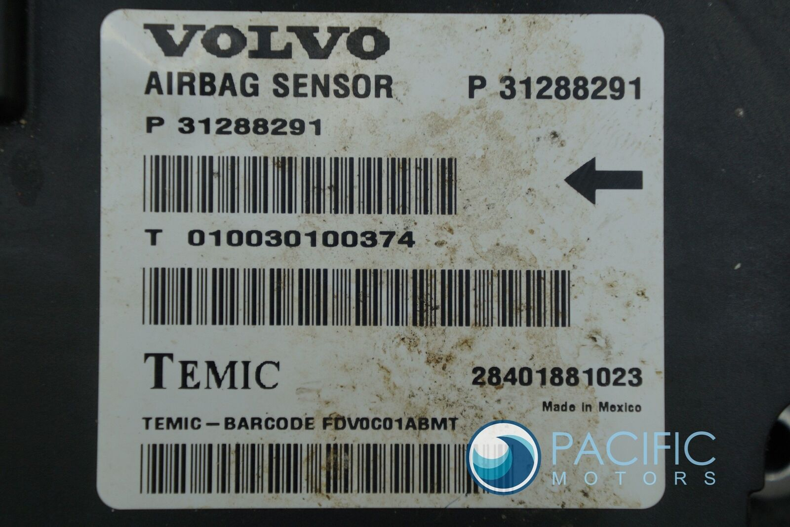 Airbag Restraint System Control Module ECU ECM 31288291 Volvo S80 2009-12 – Pacific Motors