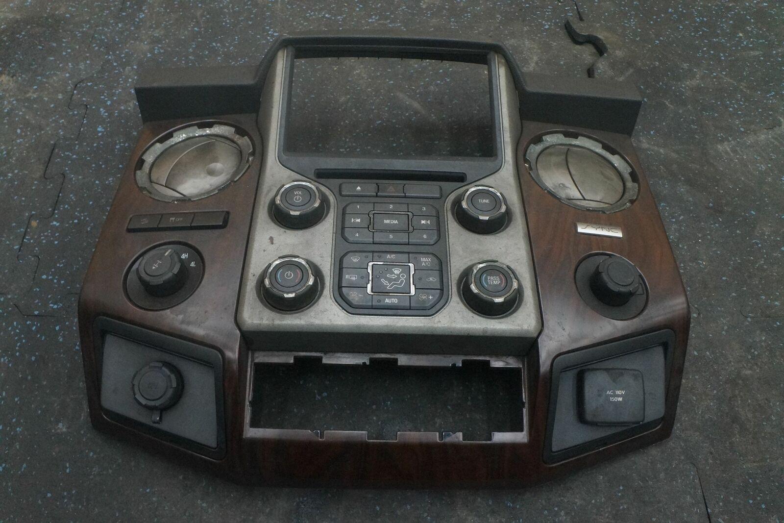 Dash Radio Climate Control Panel Trim EC3Z18842FA Ford F250 F350 SD 13-16  *Note*