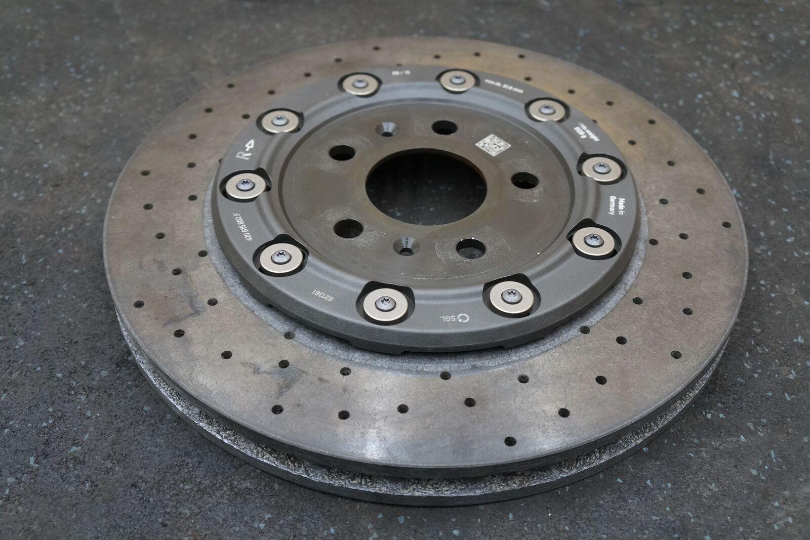 Rear Right Ceramic Brake Rotor Ccm 4s0615602a Oem Lamborghini