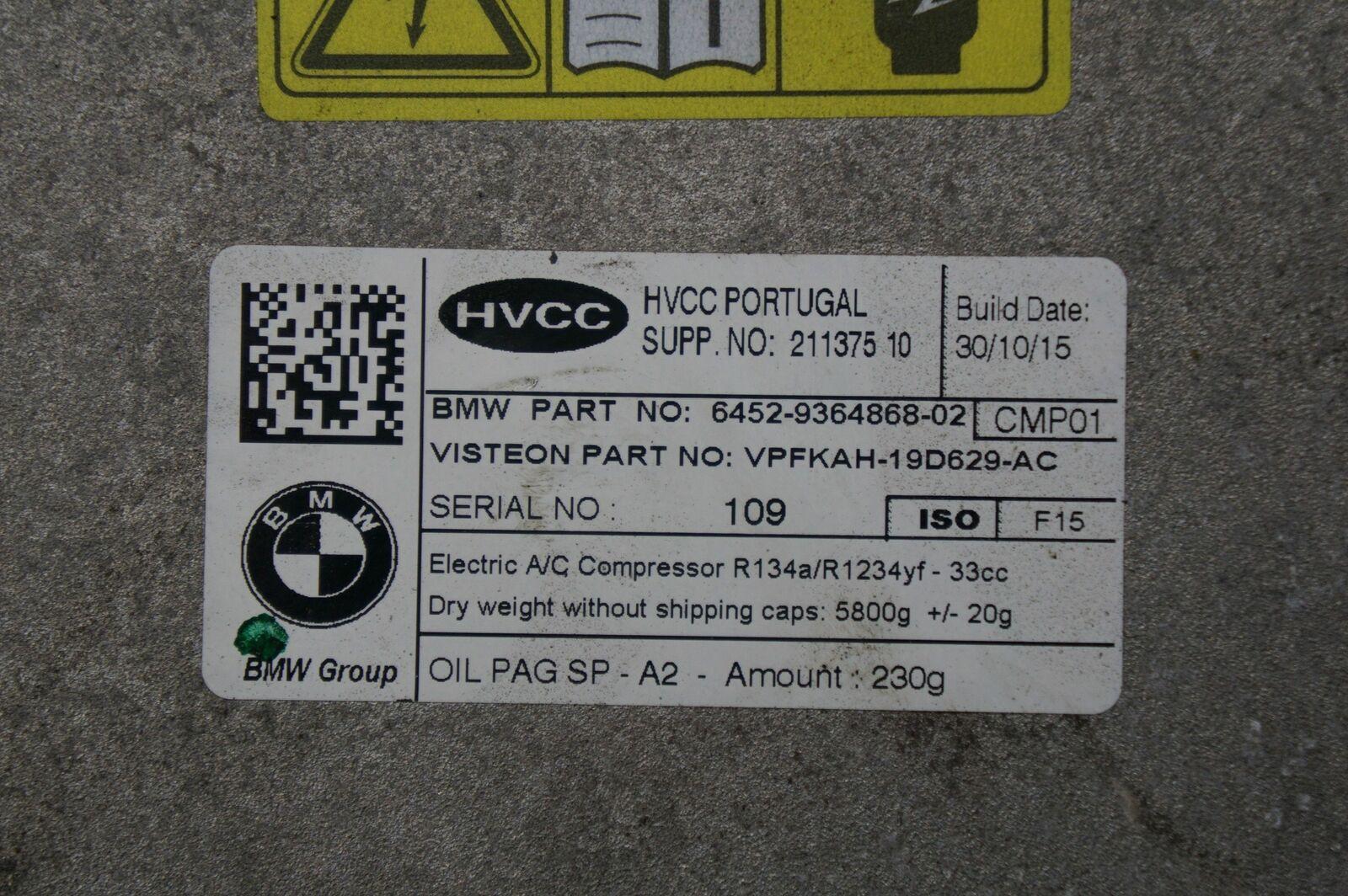 Electric AC Air Conditioning Compressor 64529364868 OEM BMW i3 I01 2014-18
