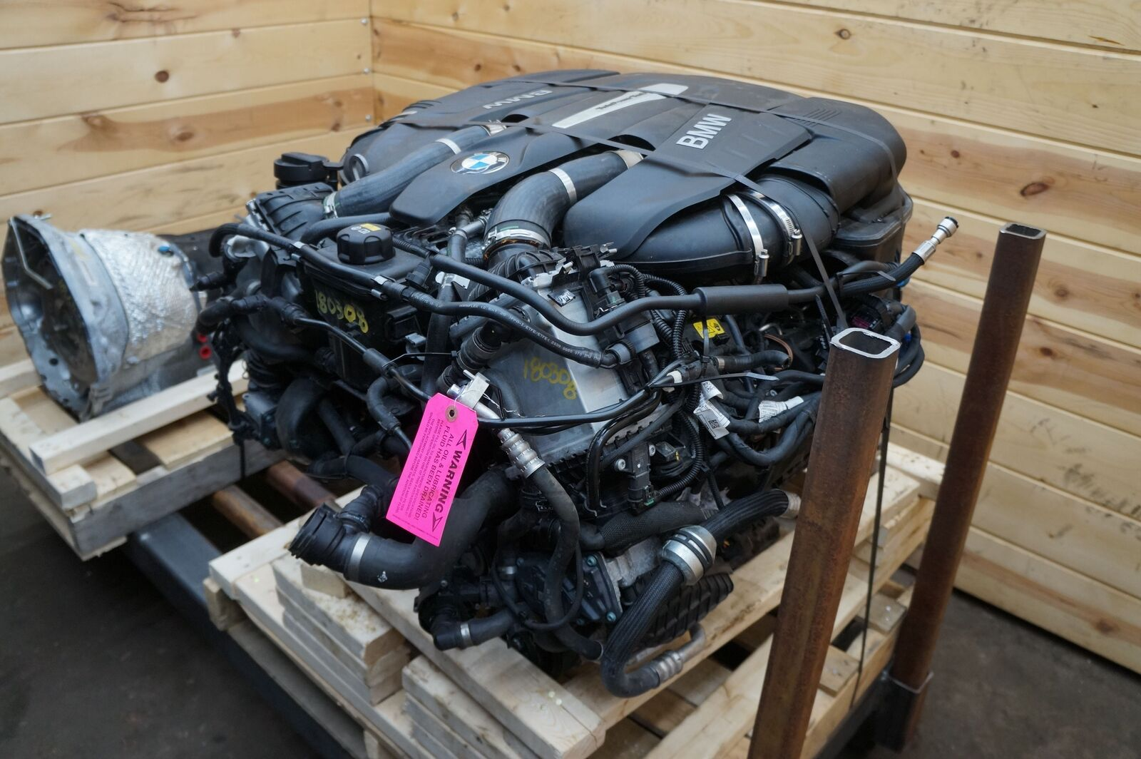 4 4l v8 twin turbo n63r engine dropout assembly bmw 750. Black Bedroom Furniture Sets. Home Design Ideas