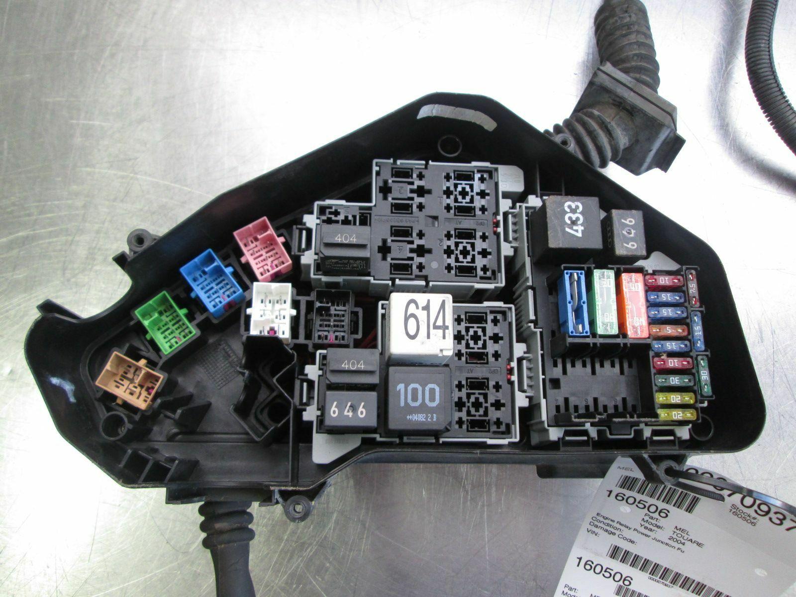 2004 touareg fuse box engine relay power junction    fuse       box    4 2l v8 7p0907295b  engine relay power junction    fuse       box    4 2l v8 7p0907295b