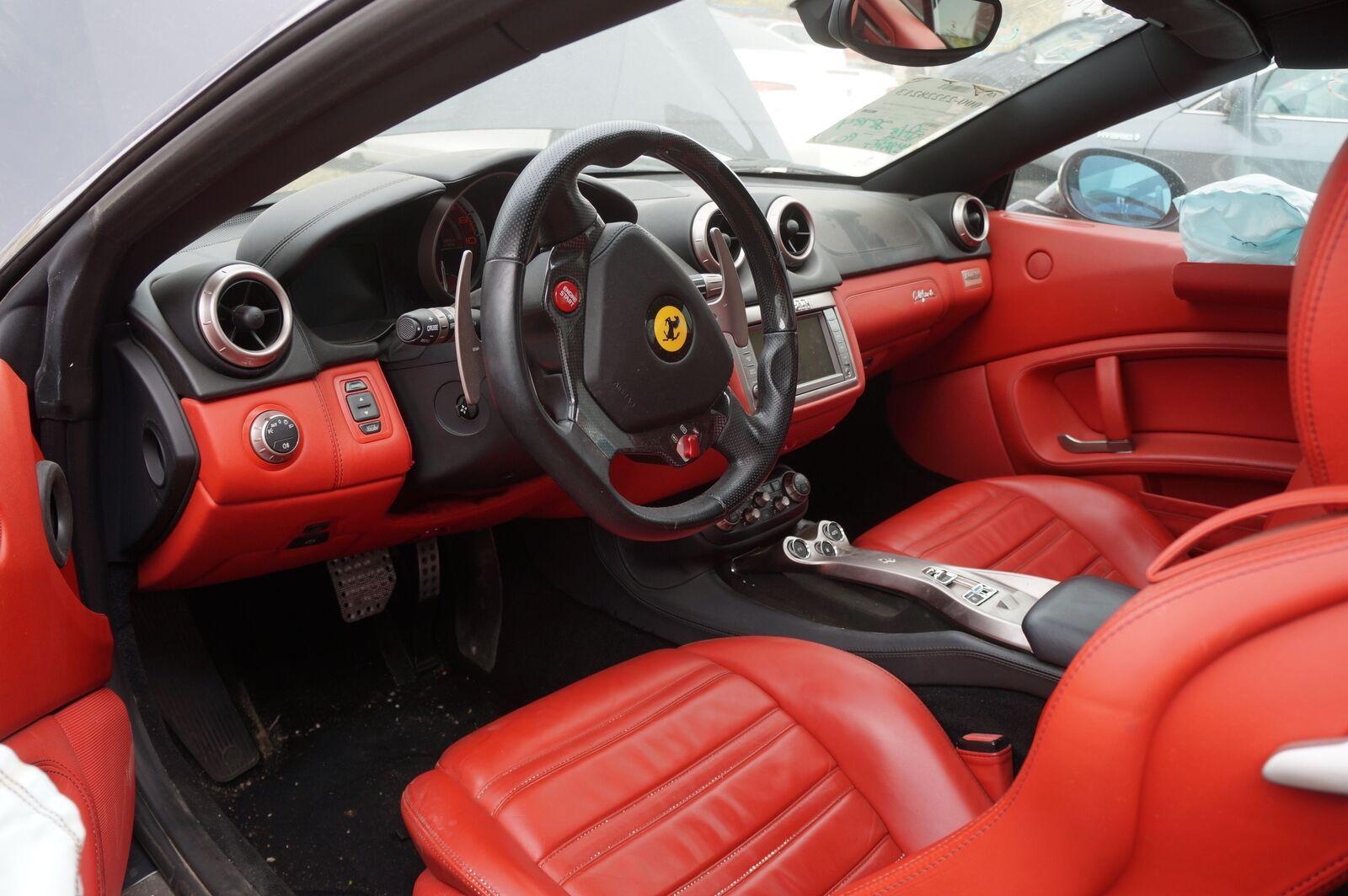 Left Driver Side Rear View Door Mirror Blue Oem Ferrari California